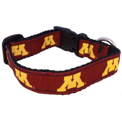 NCAA Minnesota Golden Gophers Dog Collar, Team Color, Medium