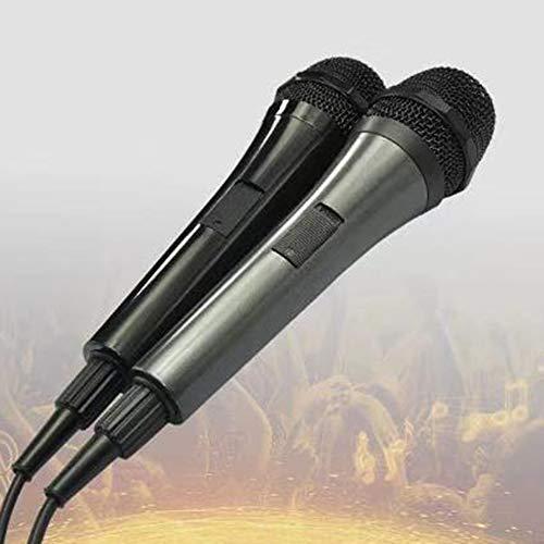Preisvergleich Produktbild GreceMonday Sliver Grau Wired Mikrofon für Moving Coil Typ Lautsprecher FlachkopfmikrofonSilbergrau
