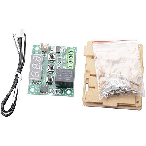 ButDillon 12V W1209 Digital Termostatos Módulo Sensor Interruptor De Control De Temperatura -50 – 110 °C con Sonda de Sensor Resistente Al Agua con Acrylic Case