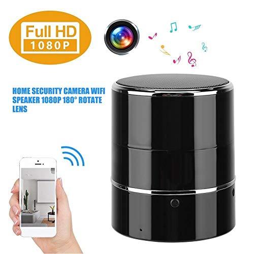 Hakeeta Bluetooth Altavoz Cámara WiFi HD 1080P 180 ° Rotar Lente Grabador de Video Vista en Tiempo Real Cámara de niñera, cámara espía Oculta inalámbrica con Audio para iOS/Android/Windows
