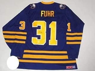 Grant Fuhr Autographed Signed #31 Ccm Vintage Buffalo Sabres Jersey Proof HOF JSA COA - Authentic Memorabilia