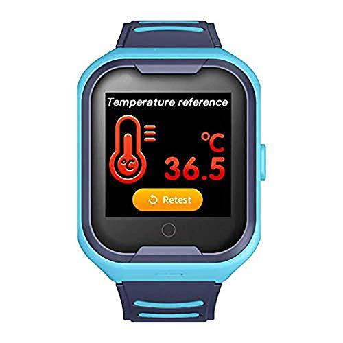 JIAJBG Smartwatch Inteligente Reloj Termómetro, la Temperatura Corporal Detección Reloj Teléfono, Niños Reloj Teléfono Inteligente Multifunción Reloj de Pulsera de Deportes Intelige
