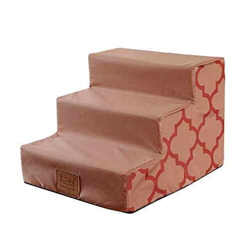 Treppen & Stufen für Hunde Faltbare Pet Steps Für Hundebett, Katzen- / Hundetreppe, 3 Schritte Für Bett/Sofa, Entfernbarer Waschbarer Bezug, Rutschfester Boden, 38 × 40 × 30 Cm