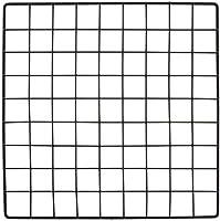 """SKEMIX Mini Black Grid Panel 14"""" W x 14"""" H 1.5"""" Squares Grid Panel Vinyl Dipped Black"""