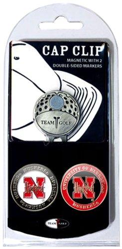 NCAA Cap Clip avec 2 Marqueurs de Balle de Golf, Homme Mixte Femme, Nebraska Cornhuskers