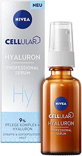 NIVEA Cellular Professional Serum Hyaluron (30 ml), feuchtigkeitsspendendes Hyaluron Serum, Anti Falten Serum für einen frischen und gesund aussehenden Teint