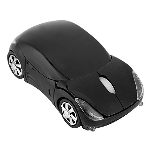 Wireless Mouse for kids, 2.4G Wireless Mouse Car Shaped Mouse, 1600DPI Optical Mouse with USB Receiver for Gaming Office Kids Girls Small Hands Gift (black)