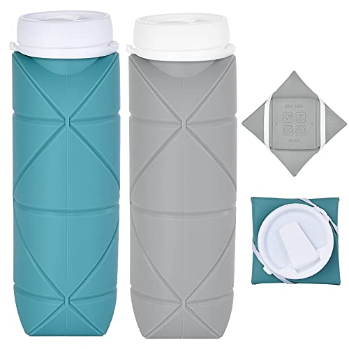 Collapsible Water Bottle Pair