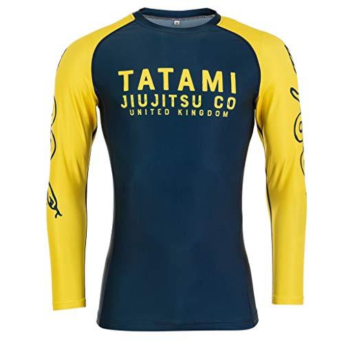 Tatami Fightwear Langarm Rashguard Supply Co Navy - Herren Rash Guard für Jiu Jitsu, Fitness, Grappling, MMA (S)