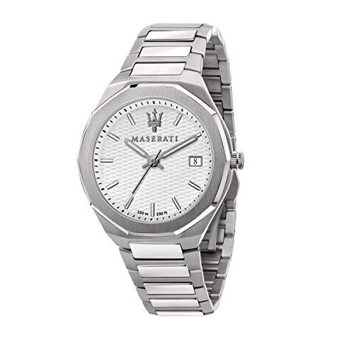 Maserati Reloj Hombre, Colección Stile, Cuarzo, Tiempo y Fecha, en Acero - R8853142005
