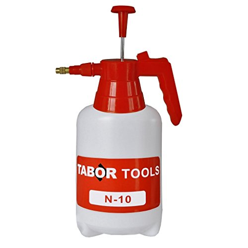 TABOR TOOLS 0.3 Gal Pump Pressure Sprayer, One-Hand Garden Sprayer & Mister for Water, Herbicides, Fertilizers, Mild Cleaning Solutions and Bleach. N-10. (0.3 Gallon)