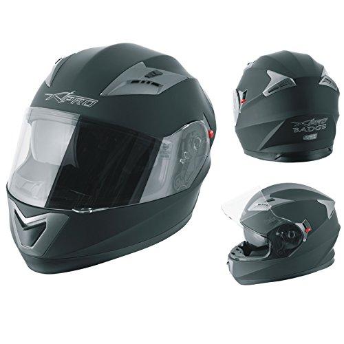 casco scooter integrale omologato A-Pro Casco Integrale Moto Scooter Visierino Parasole Touring Nero Opaco M