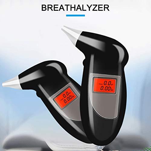 KKmoon Alcoholimetro Digital Probador de Alcohol Port/átil con 5 Boquillas Respiratorio