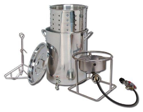 King Kooker SS1267SBSP Stainless Steel Cooker, Pot and Basket System