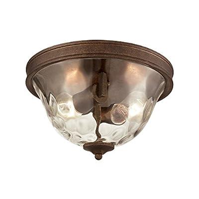 Elk Lighting 46028/2 Close-to-Ceiling-Light-fixtures, 7 x 12 x 12, Brown