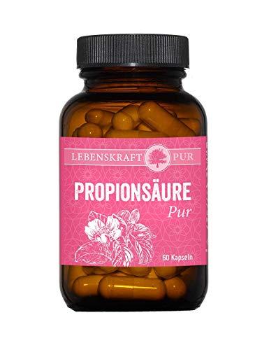 Propionsäure Pur 60 Kapseln vegan | 500 mg pro Kapsel reines Natriumpropionat | hochdosiert | hergestellt in Deutschland