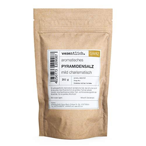 Pyramidensalz (200g) von wesentlich.- perfektes Tischsalz | Fingersalz | Meersalz | Salzflocken
