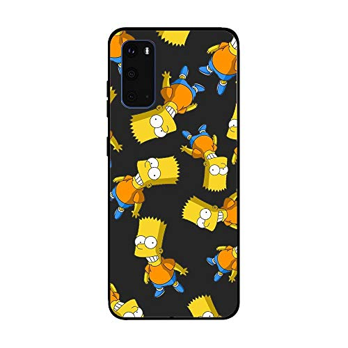 Soft Black Shockproof Thin Durable Flexible Case for Samsung Galaxy S20-The-Simpson Homer-Father 6