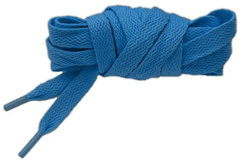 neon Lacets plat 100% coton 125cm haute qualité (bleu lagon)