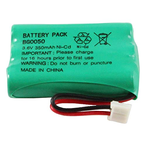 WalR Rechargeable Cordless Phone Battery Ni-CD, for GE TL96158 TL-96158 86158 2-5721 25721 2-2522 22522 21009GE3 21018GE3 21028GE3 21098 21900 21905 25413 25414 25415 25831GE3