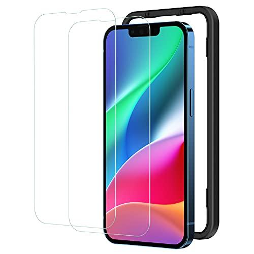 NIMASO ガラスフィルム iPhone13 Pro/iPhone 13 用 液晶 保護 ガラス フィルム iPhone13Pro 対応 ガイド枠付き 2枚セット NSP21H282