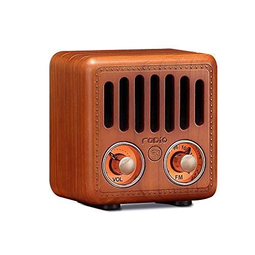 Retro Radio, Vintage Bluetooth Speaker, Greadio Walnut Wooden FM Radio with Bluetooth 4.2, Old...