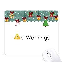 プログラマインタフェースなしの警告 ゲーム用スライドゴムのマウスパッドクリスマス