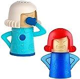 Anmutigcelle Limpiador de vapor de microondas Angry Mama de 2 piezas enojado Mama microondas acción...