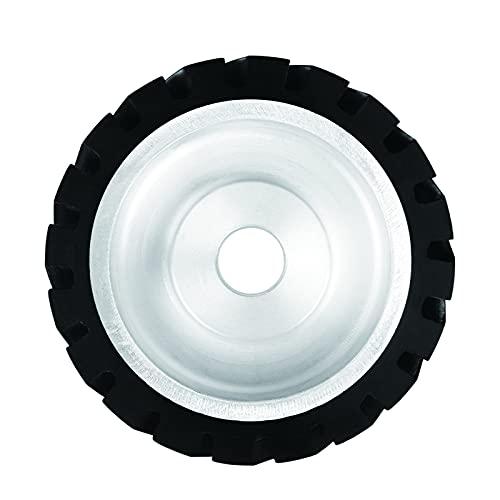 Rueda de goma de la amoladora de correa de 10 pulgadas, rueda de contacto de goma dentada con agujero de 1 pulgada para la máquina de la correa pulidora
