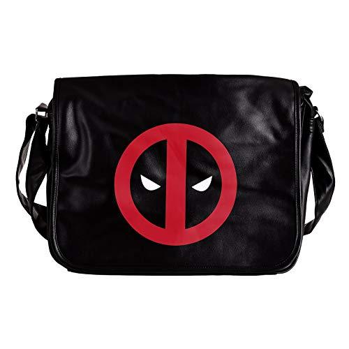 Elbenwald Deadpool College Tasche Logo 40x33x11cm Marvel schwarz