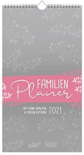 FamilienPlaner 2021 mit 5 Spalten, 23 x 42 cm [Blumen] Wandkalender Jan - Dez 2021 | Familienkalender Wandplaner: Ferientermine & viele Zusatzinfos | nachhaltig & klimaneutral