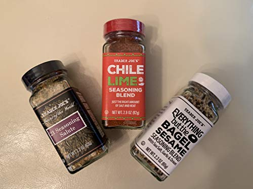 Trader Joe's Seasoning - 21 Salute Seasoning , Chile Lime and Everything but the bagel Seasoning