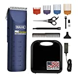 Wahl Home Pet Pro-Series Complete Pet Clipper Kit, for Pet Grooming, Trimming, and Touchups, Works Best on Fine to Medium Coated Dogs and Cats, or for Double Coated Clipping, 9590-210,Blue