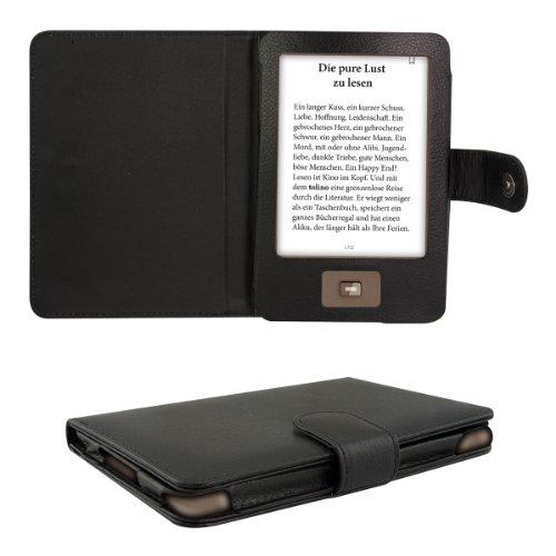 kwmobile Flip Hülle Hülle kompatibel mit Tolino Shine - eReader Tasche Schutzhülle Cover Schwarz