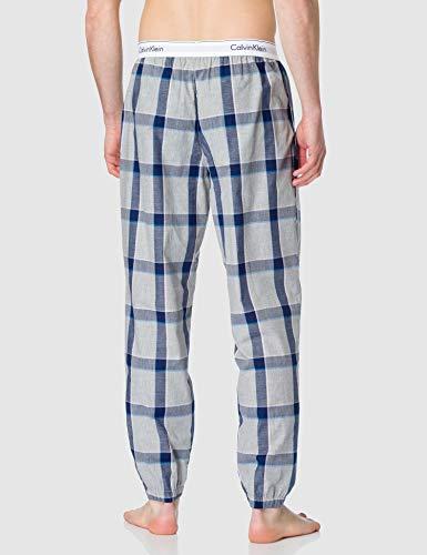 Calvin Klein Jogger Pantaln de Pijama, Tinton Plaid/Gris Heather, M para Hombre