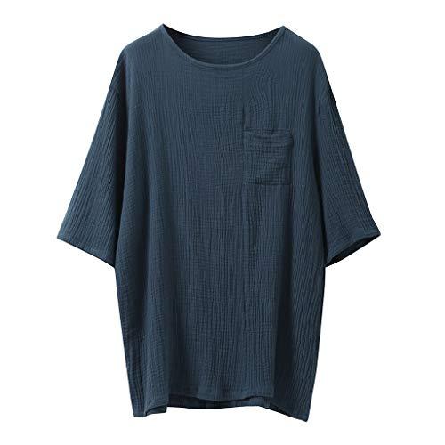 BOLANQ Jeans t Shirt Shirts Tank top mit Spitze Tanktop Sommer Longtop schwarz schwarzes weiß rückenfreies (XXX-Large,Marine)