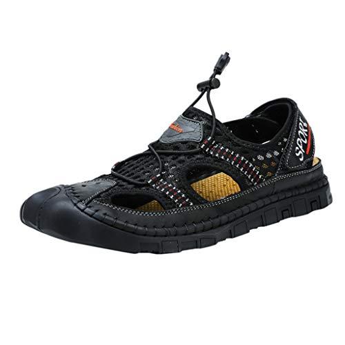 Zapatillas de Senderismo para Hombre Alpinismo Sandalias Hueco Malla Zapatos de Viaje,ZARLLE Sandalias de Verano Sandalias Deportivas para Hombre Sandalias de Playa