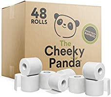 The Cheeky Panda – Bamboo Toilet Tissue Paper | Bulk Box of 48 Rolls (3 Ply, 200 Sheets) | No Unnecessary Packaging,...