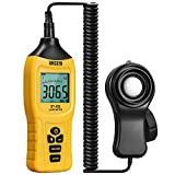 Digital Lux Light Meter URCERI Professional Illuminance Meter 400,000 Lux with Large LCD Screen, 9 V Battery...