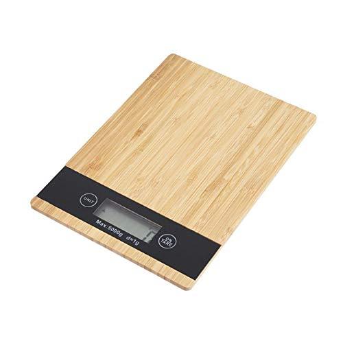 Balanza cocina jata Escala de cocina de bambú LED de visualización de la cocina eléctrica Balanza balance de la escala peso de la dieta Cocinar Escala Escala del alimento gifr guides