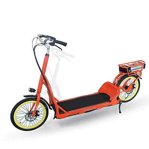 TWW Bicicleta para Pasear, Frenos De Disco Doble, Cómodo, Correr Eléctrico, Caminar, Equipo De Fitness Interior Y Exterior De Ocio para Hombres Y Mujeres,Naranja