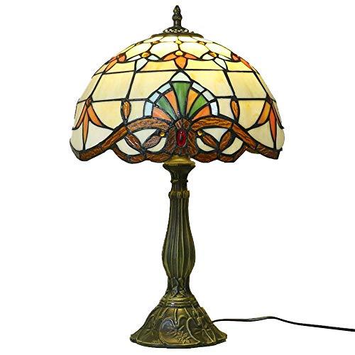 DIMPLEYA Tiffany Style Lámpara de Mesa Simple lámpara de Noche Lámpara de Cama Internacional CE y CCC Resina certificada LED Lámpara de Mesa Base de Sala de Estar Dormitorio