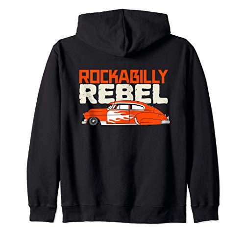 Rockabilly Rebel Hot Rod Low Rider Vintage Sedan Kapuzenjacke
