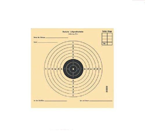 g8ds 200 Luftgewehrscheiben 14 x 14 cm/Zielscheiben für Luftgewehr Hohe Qualität