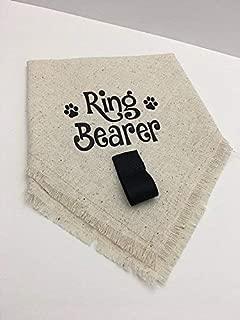 Wedding Ring Bearer Dog Bandana Costume