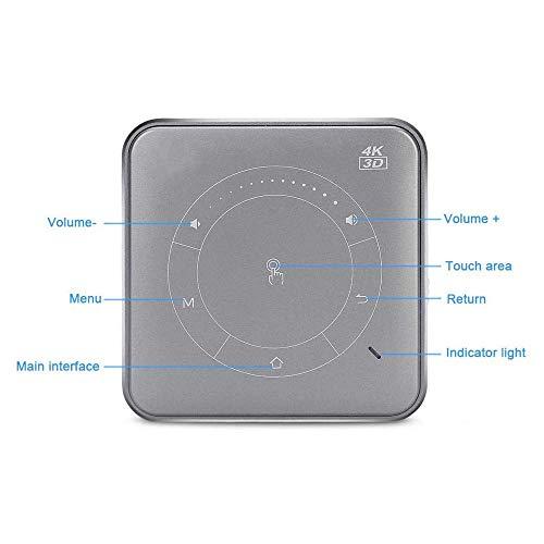 Linbing123 P11 Portátil Mini Proyector DLP 3D 20000 Horas De Vida HD Android 9.0 1080P Completo MAX 4K WiFi Móvil Proyector LED Inteligente para Proyectores,Negro