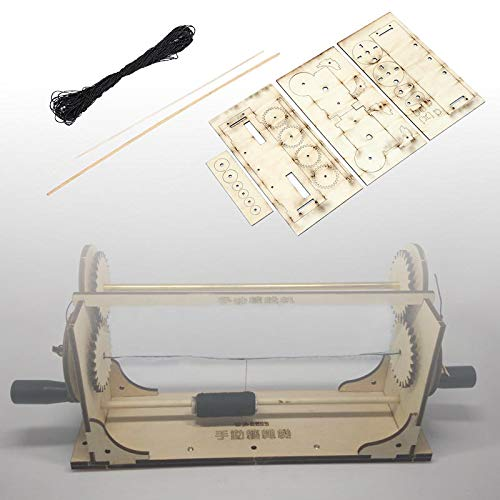 DIY Hobby Houten Staande Rigging Model Schip Gereedschap Ropewalk Schaal Touw Maken Kit