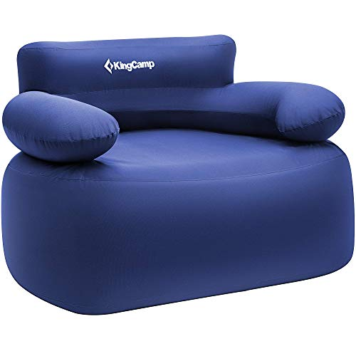 KingCamp Camping Aire sofá Silla de Aire Inflable con Bomba de pie 108 x 78 x 70