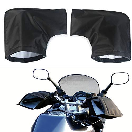 IMBTECH - Guantes para manillar de motocicleta, protección impermeable, guantes térmicos, guantes de bicicleta, color negro