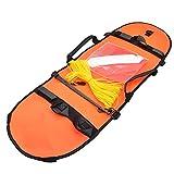 Bandera de pesca submarina de buceo Boya inflable de señal de alta visibilidad para el buceo pesca submarina Buceo Snorkeling Natación Naranja Accesorios de pesca al aire libre